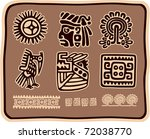 vector set of mexican design... | Shutterstock .eps vector #72038770