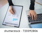 accounting calculating... | Shutterstock . vector #720392806
