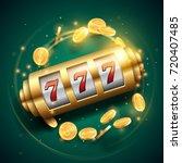 casino slot machine - stock vector