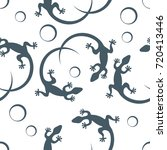 cute seamless pattern with... | Shutterstock .eps vector #720413446