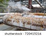 corrosion rusty valve gas leak... | Shutterstock . vector #720415216