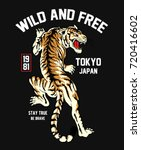 japanese style tiger vector... | Shutterstock .eps vector #720416602