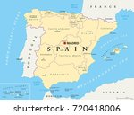 spain administrative divisions... | Shutterstock .eps vector #720418006