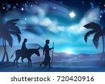 nativity christmas illustration ... | Shutterstock .eps vector #720420916