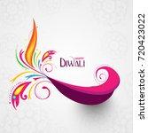 vector illustration of diwali... | Shutterstock .eps vector #720423022