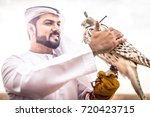 arabic man with traditional... | Shutterstock . vector #720423715