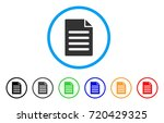 text page rounded icon. style... | Shutterstock .eps vector #720429325