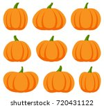 Cartoon Halloween Pumpkin Set....