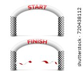 finish  start line arch... | Shutterstock .eps vector #720438112