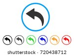 undo rounded icon. style is a... | Shutterstock .eps vector #720438712