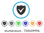 shield valid rounded icon.... | Shutterstock .eps vector #720439996