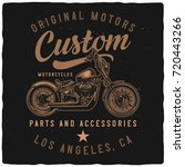 t shirt or poster design with... | Shutterstock .eps vector #720443266