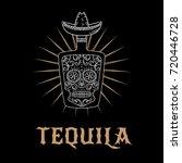 tequila bar logo. vector... | Shutterstock .eps vector #720446728