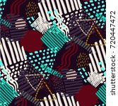 memphis seamless  pattern in... | Shutterstock .eps vector #720447472
