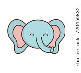 cute elephant icon  | Shutterstock .eps vector #720450832