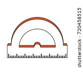 angle meter ruler | Shutterstock .eps vector #720458515