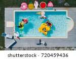 group of friends having fun in... | Shutterstock . vector #720459436