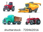 set of agricultural transport.... | Shutterstock .eps vector #720462016