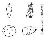 vegetables vector icons | Shutterstock .eps vector #720464938