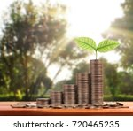 graph money coins stock finance ... | Shutterstock . vector #720465235