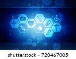 2d illustration medical... | Shutterstock . vector #720467005