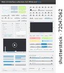 web 2.0 interface part full....   Shutterstock .eps vector #72047062