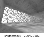 dark empty room. concrete rusty ... | Shutterstock . vector #720472102
