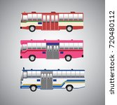 thailand bus | Shutterstock .eps vector #720480112