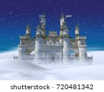 3d rendering of an enchanted... | Shutterstock . vector #720481342
