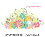 floral background | Shutterstock .eps vector #72048616