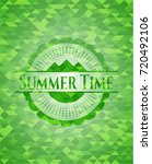 summer time realistic green... | Shutterstock .eps vector #720492106