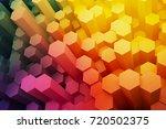 abstract hexagon electronic... | Shutterstock . vector #720502375