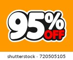 sale tag  95 percent off ... | Shutterstock .eps vector #720505105