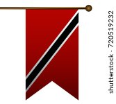 isolated flag of trinidad and...