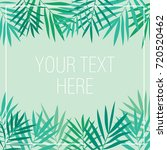 tropical background with palm... | Shutterstock .eps vector #720520462