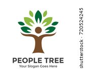 people tree with star vector... | Shutterstock .eps vector #720524245