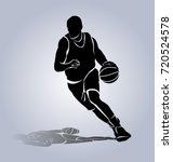 Vector Silhouette Basketball...