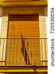 stylish balcony with a metal... | Shutterstock . vector #720530056