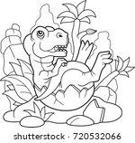 cartoon cute tyrannosaurus...   Shutterstock .eps vector #720532066
