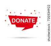 donate. tag label. flat icon.... | Shutterstock .eps vector #720534922