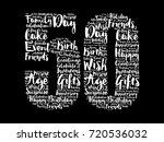happy 50th birthday word cloud... | Shutterstock .eps vector #720536032