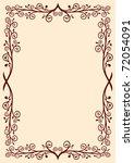 floral frame | Shutterstock .eps vector #72054091