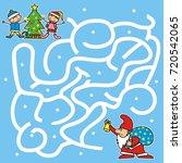 christmas game for kids....   Shutterstock .eps vector #720542065