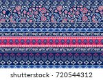 seamless pattern with ethnic... | Shutterstock .eps vector #720544312