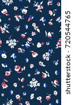 cute floral pattern in the... | Shutterstock .eps vector #720544765