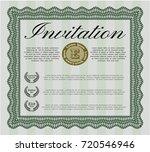 green vintage invitation. money ...   Shutterstock .eps vector #720546946