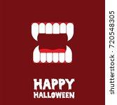 happy halloween canine tooth... | Shutterstock .eps vector #720548305