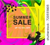summer sale banner. square.... | Shutterstock .eps vector #720555805