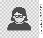 geek girl with glasses vector... | Shutterstock .eps vector #720559192