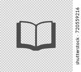 open book vector icon eps 10.... | Shutterstock .eps vector #720559216